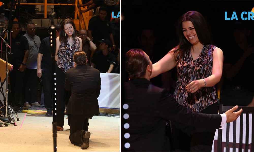 Cristian Castro propone matrimonio a su novia en concierto de Mexicali