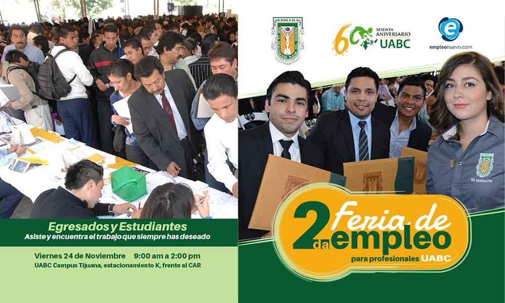 Realizarán feria de empleo para alumnos y egresados de UABC
