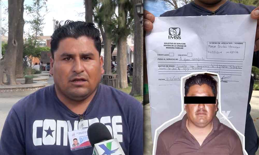 """(VIDEO) """"Yo no violé a nadie, padezco epilepsia"""", dijo Manuel tras ser acusado de violación en Tecate"""