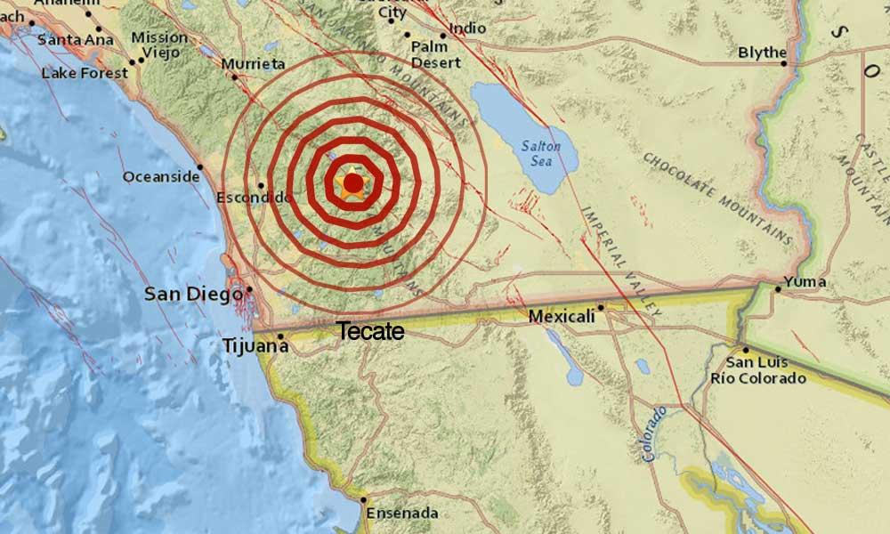 Se registra temblor en California sobre la falla de San Andrés