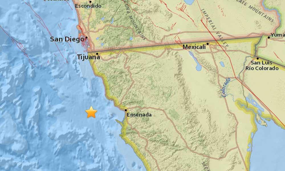 Sismo sacude hoy jueves a Baja California