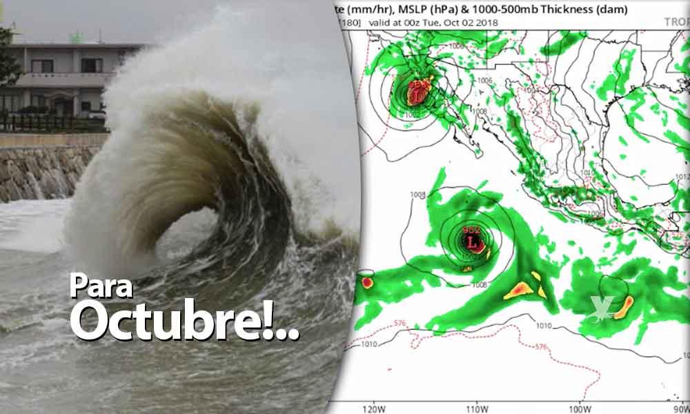 """Ciclón """"Rosa"""" podría impactar Baja California para el 2 ó 3 de octubre"""