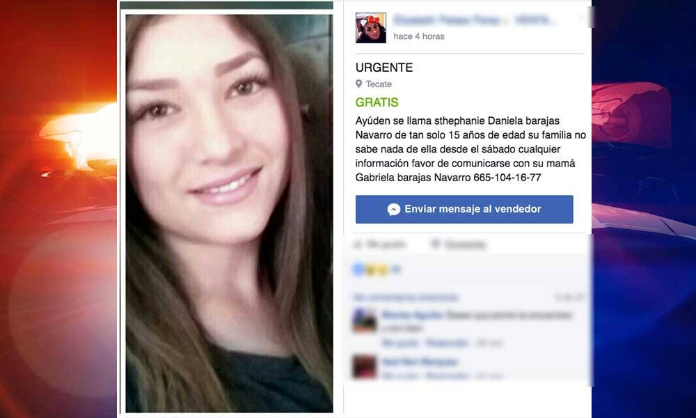 Buscan a joven desaparecida en Tecate