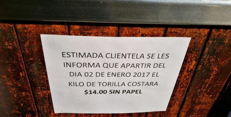 Por 'gasolinazo', kilo de tortilla aumenta tres pesos