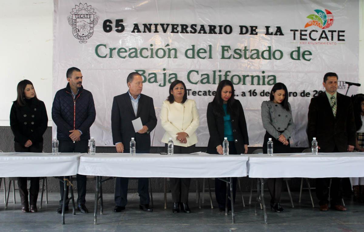 Conmemora XXII Ayuntamiento de Tecate 65 aniversario de la creación del Estado de Baja California