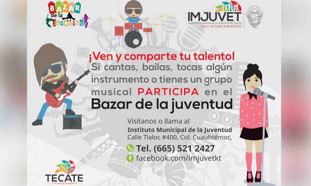 Invita IMJUVET a inauguración del Bazar de la Juventud en Tecate