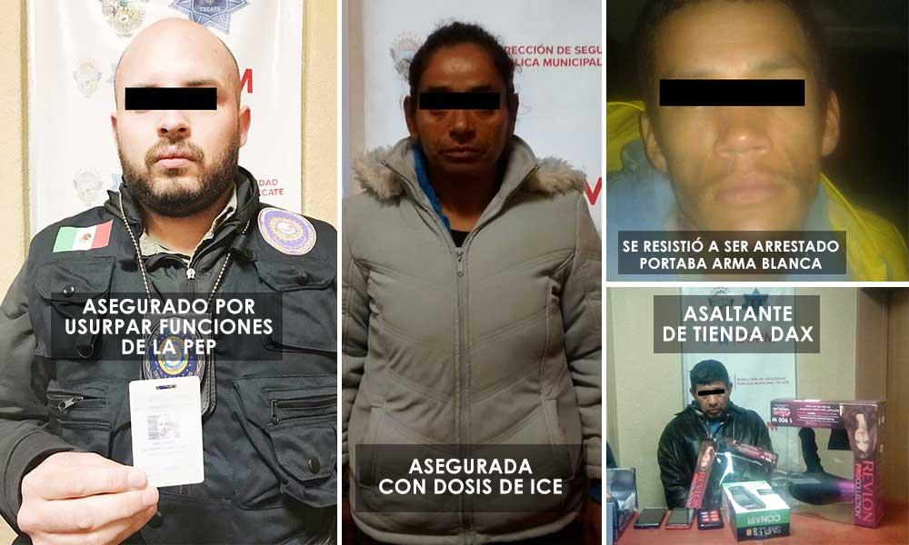 Detenidos por Seguridad Pública en Tecate