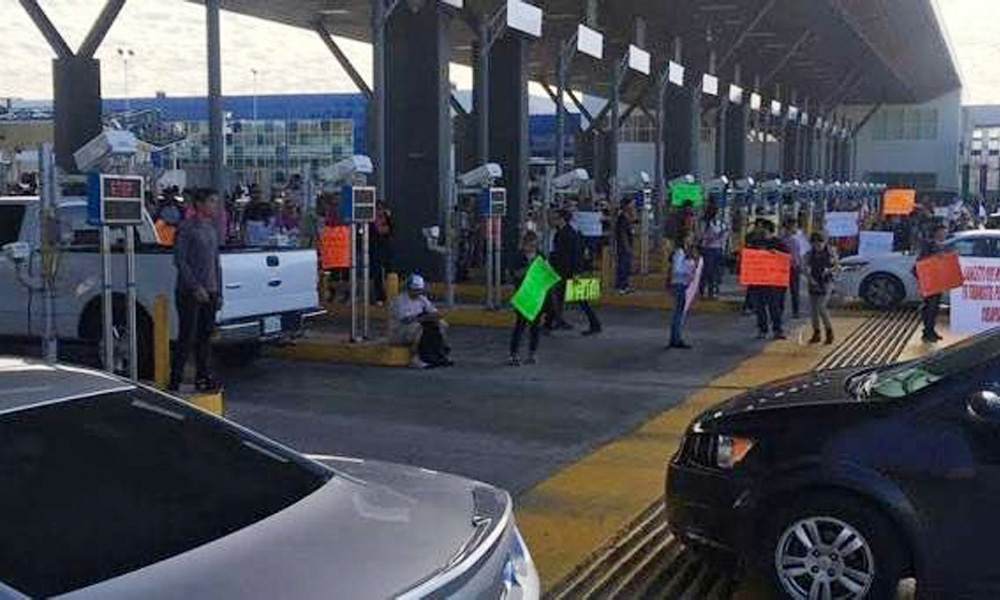 Varias garitas cerradas por protestas contra gasolinazo