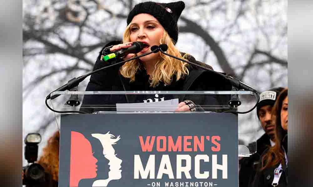 Piden que Madonna sea arrestada por discurso en manifestación masiva