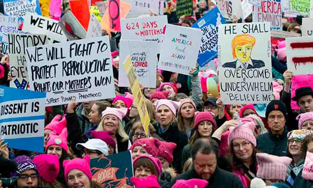 Marchan mujeres de todo el mundo en contra de Trump