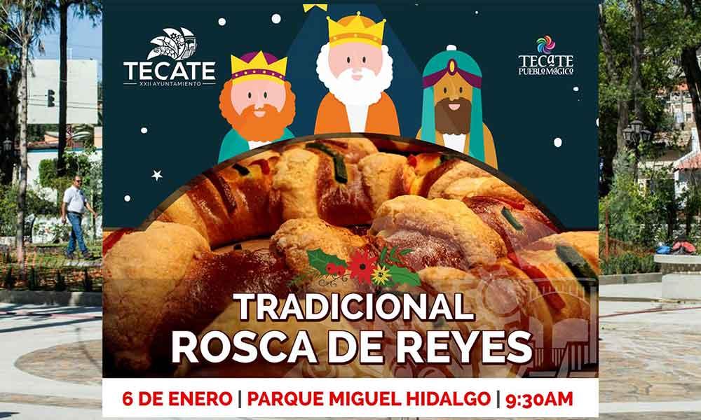 Próximo 06 de enero partirán tradicional rosca de reyes en Parque Miguel Hidalgo