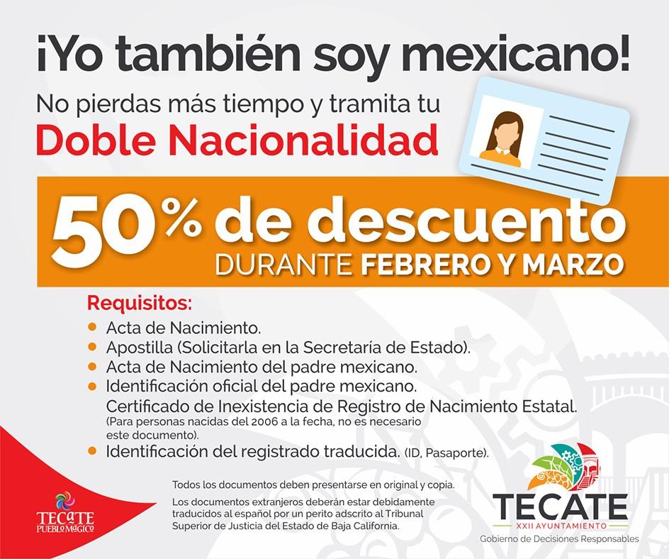 Obtén 50 % de descuento en trámites de doble nacionalidad durante febrero y marzo