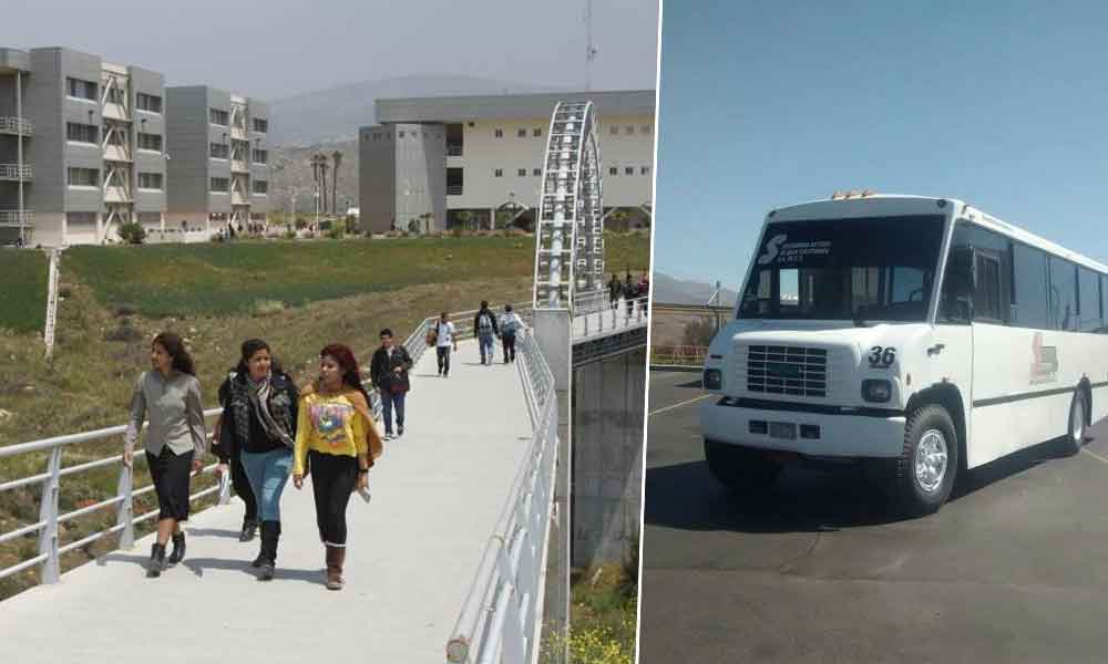 Aumentan 5 pesos a tarifa de estudiantes de Tecate a UABC Valle de las Palmas