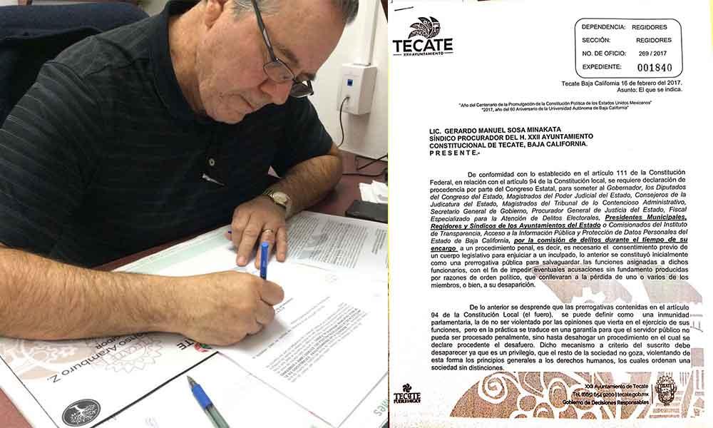 Renuncia a fuero Regidor independiente jesus Alfonso Aramburo Zatarain