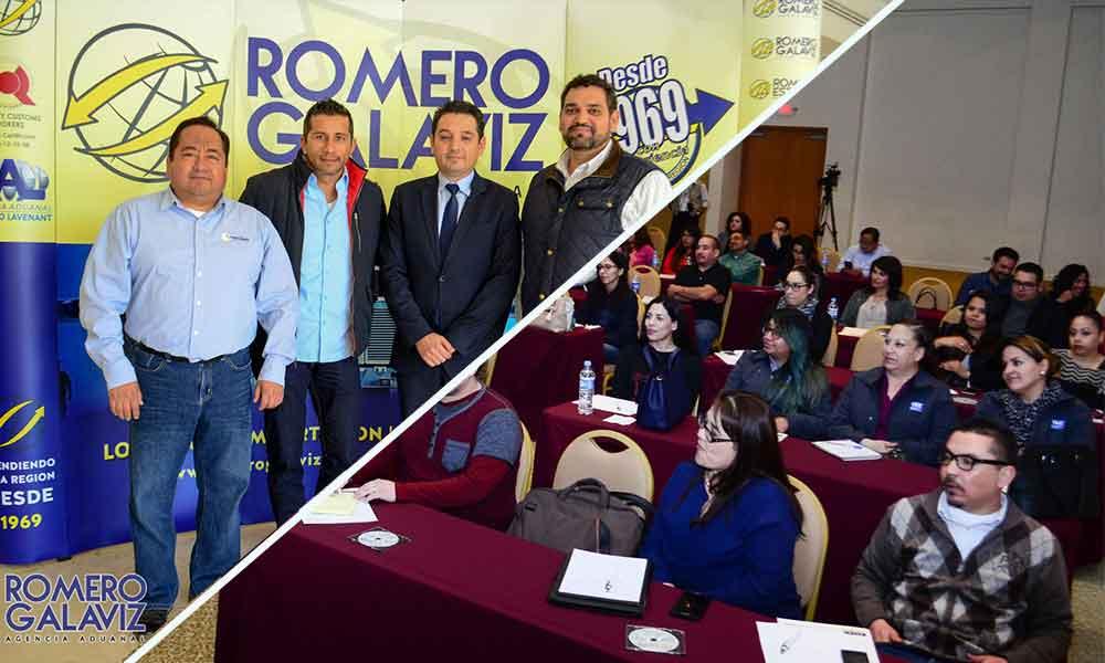 Impulsa Agencia Aduanal Romero Galaviz capacitación e innovación en temas de Comercio Exterior 2017
