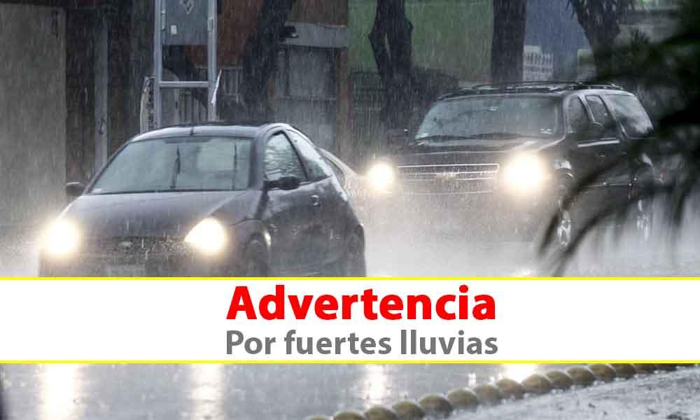 Advertencia por lluvias fuertes y abundantes en Baja California