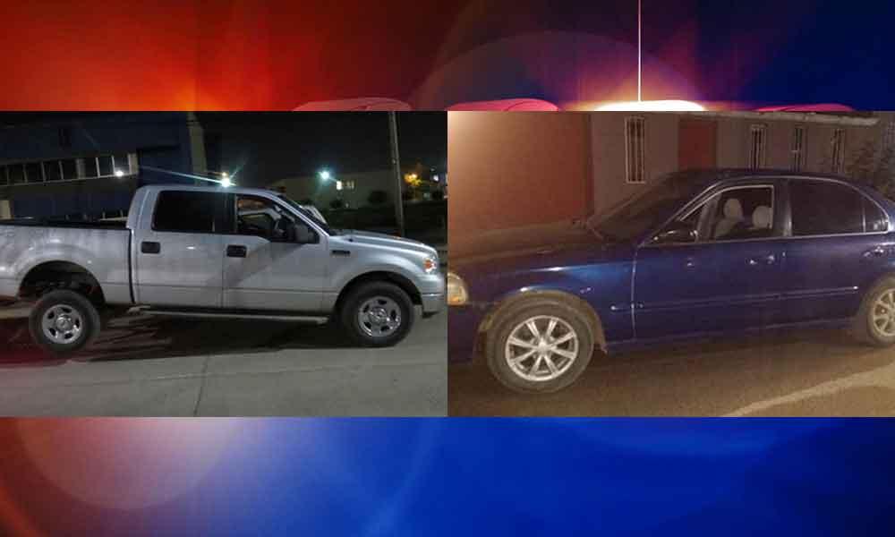 Localiza PEP 2 vehículos robados