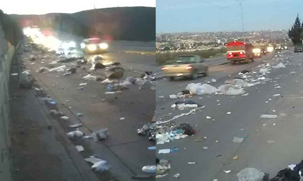 Así amaneció la Vía Rápida de Tijuana