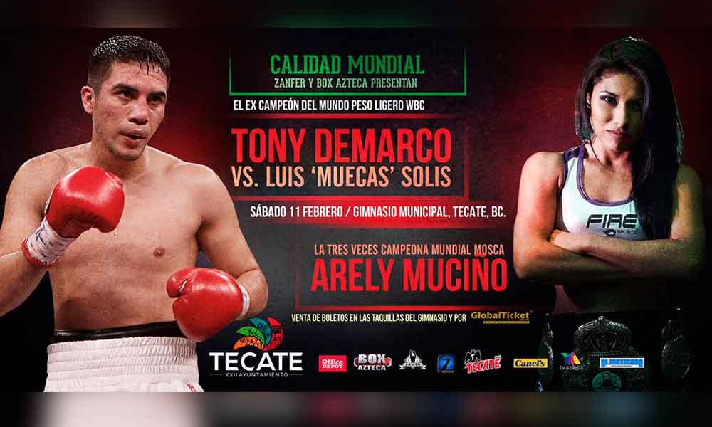 Este sábado 11 de febrero habrá función de Box  profesional en Tecate