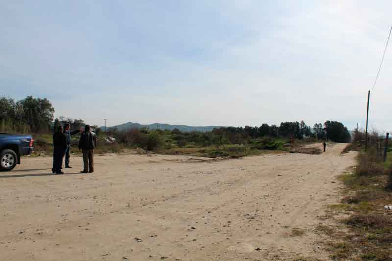 Recorren zonas de lo que será la carretera alimentadora Valle de las Palmas