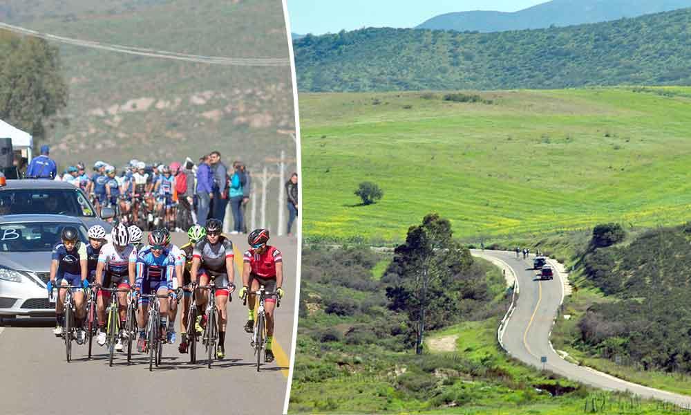 """Recorren ciclistas la """"Ruta del Vino"""" rumbo a ON2017 y NJ2017"""