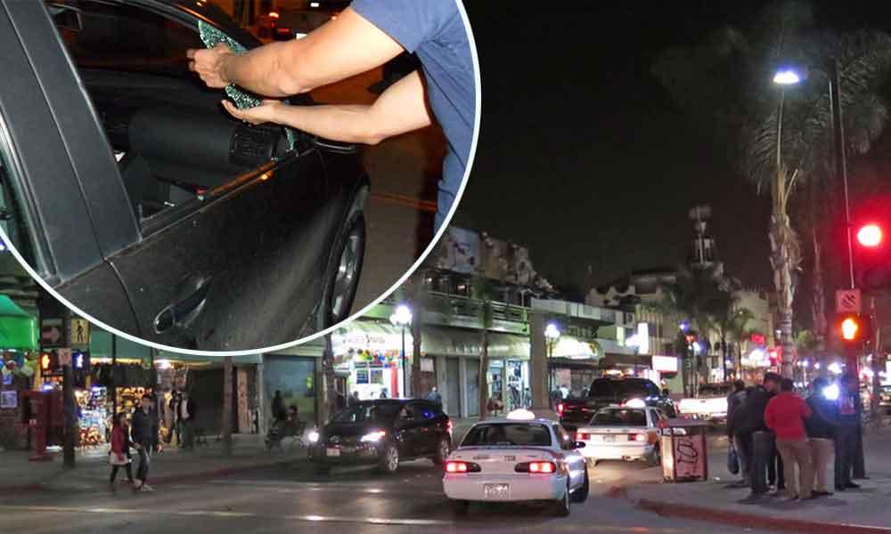 Continúan cristalazos y robos en zona centro de Tijuana