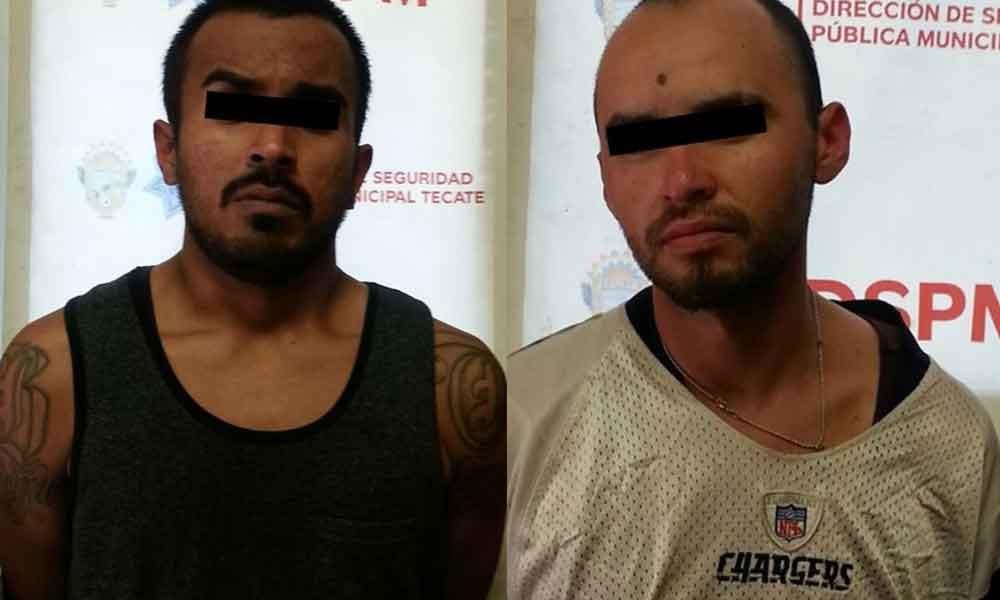 Capturan a dos sujetos por robo a casa habitación en colonia Escudero