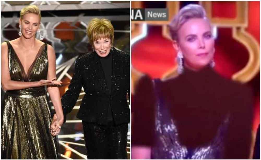 Televisora iraní censura escote de Charlize Theron en los Oscar