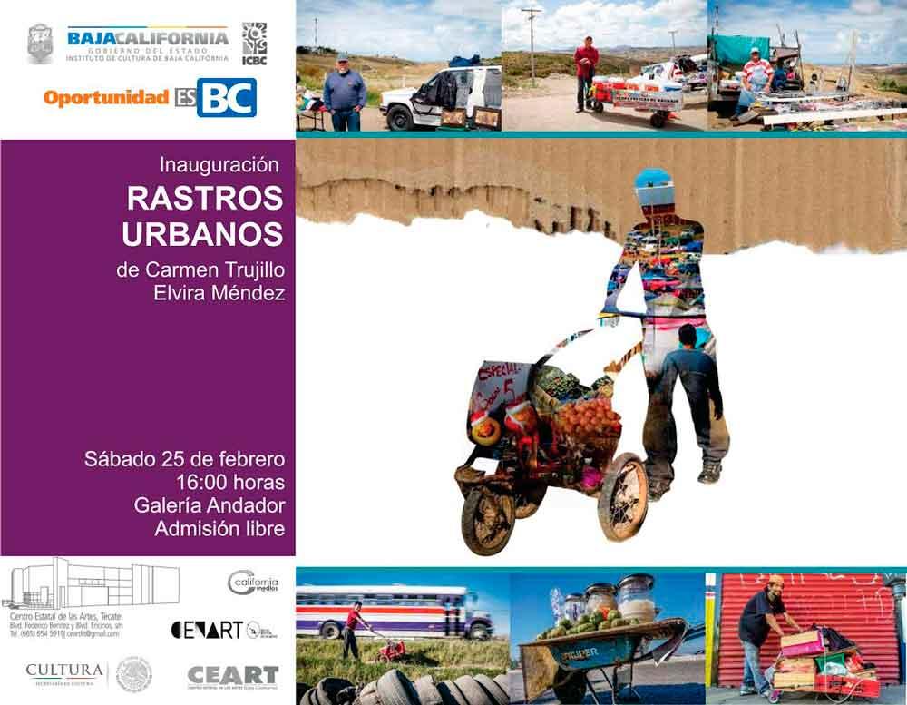 """""""Rastros urbanos"""" en la galería de CEART Tecate"""