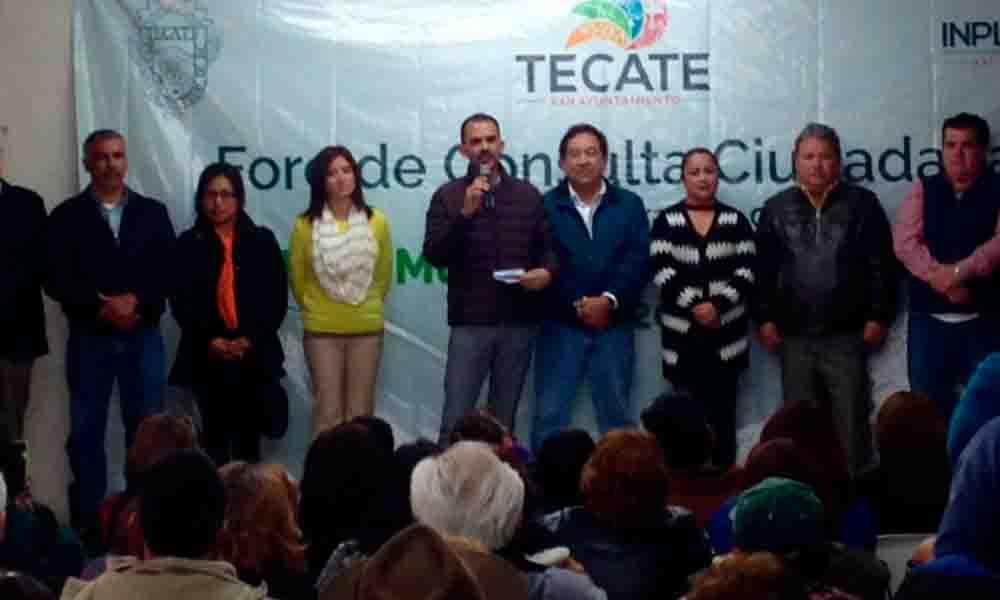 Realizan tercer foro de consulta ciudadana en zona este de Tecate