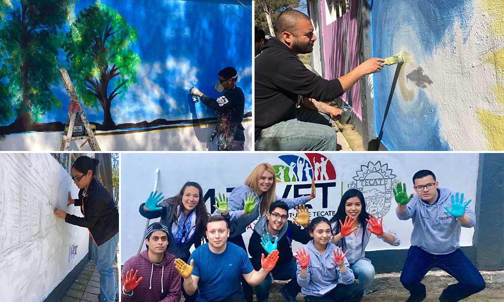 "IMJUVET reune a jovenes artistas tecatenses en concurso de murales, ""Exprésate 2017"""