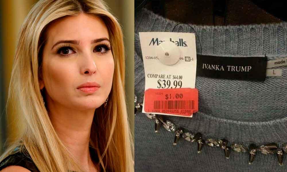 Ropa de Ivanka Trump se vende en 1 dólar en Tiendas de EU