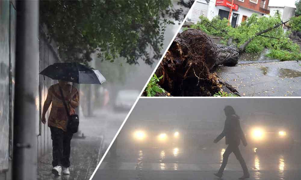 Emiten pre alerta por ráfagas de viento de hasta 120 km/h y lluvias que se extenderán hasta el domingo