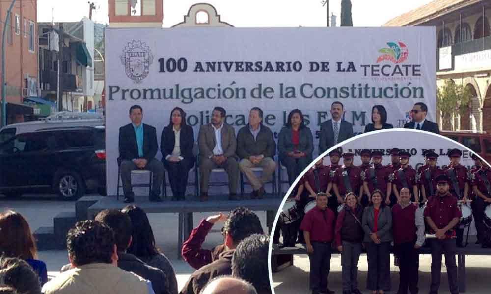 Conmemoran centenario de la constitución en Tecate