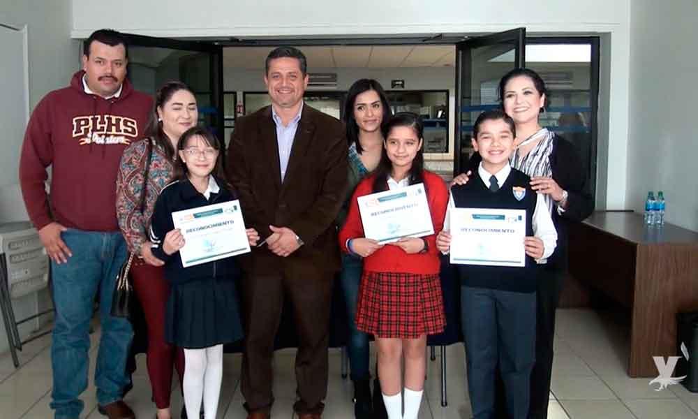 Reconoce SEE Tecate a ganadores del parlamento de niños y niñas 2017