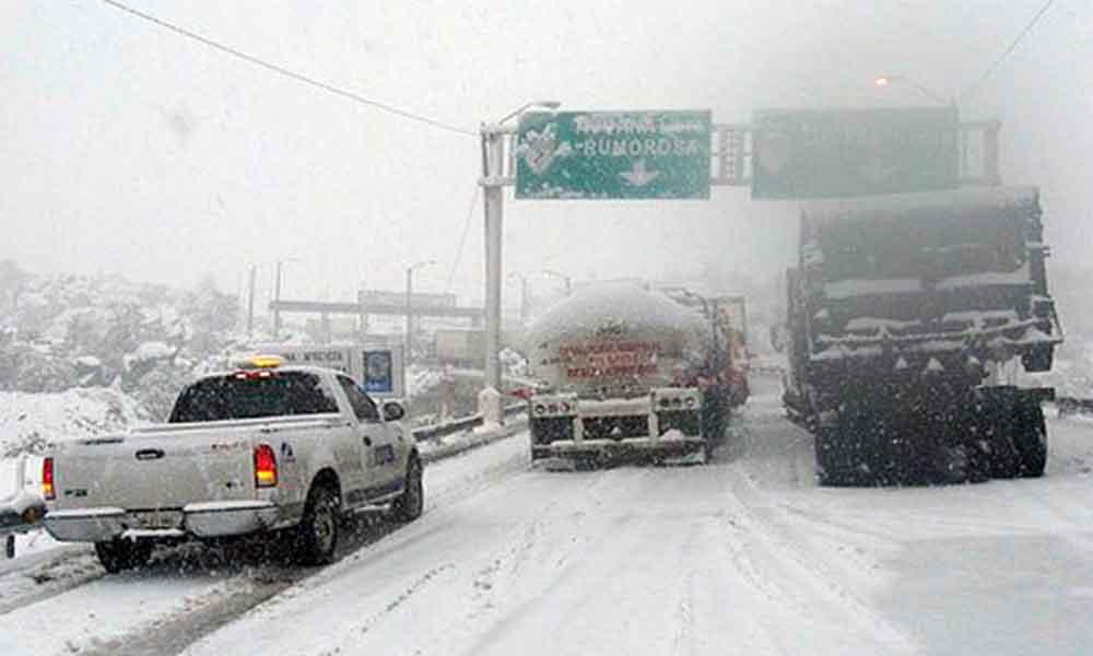 Alertan por posibles nevadas en Baja California