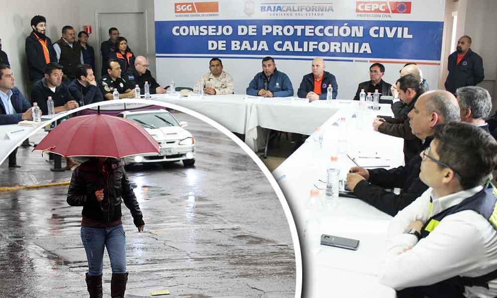 Lluvias bajan de intensidad en Baja California; No hay condiciones para declarar estado de emergencia