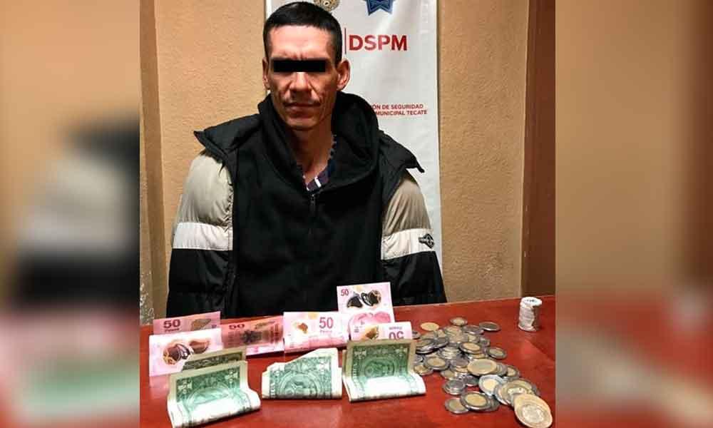 Capturan a sujeto por robo con violencia en tienda Oxxo
