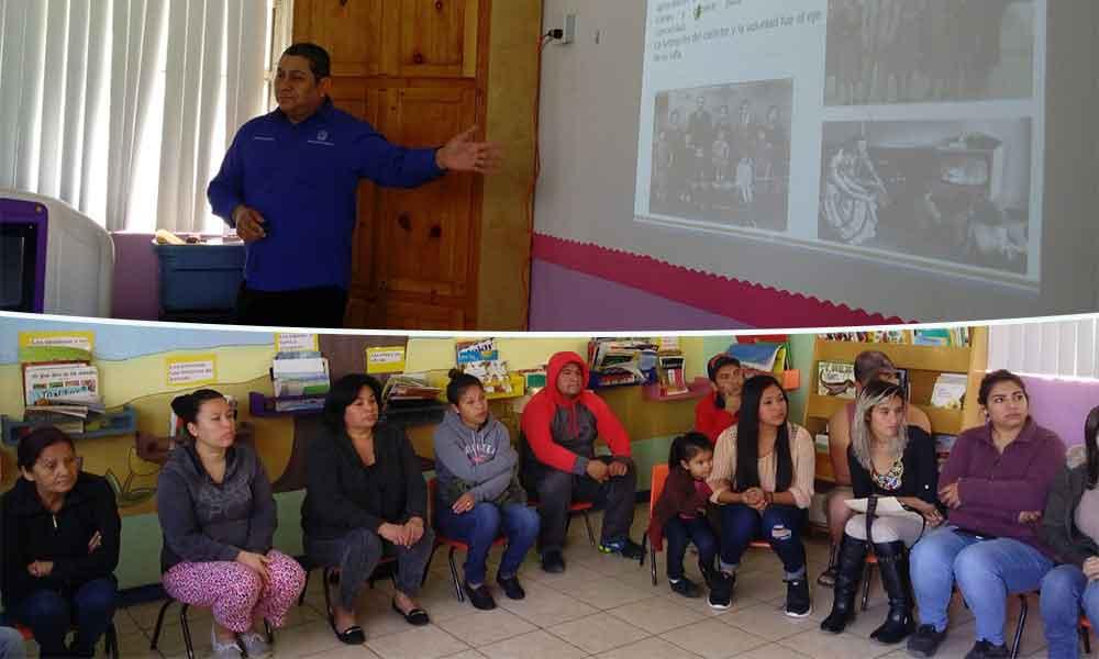 Imparten pláticas para promover la participación de los padres en la educación de sus hijos en Tecate