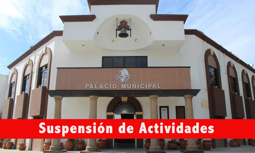 Suspenderán actividades el lunes 06 de enero en Gobierno Municipal