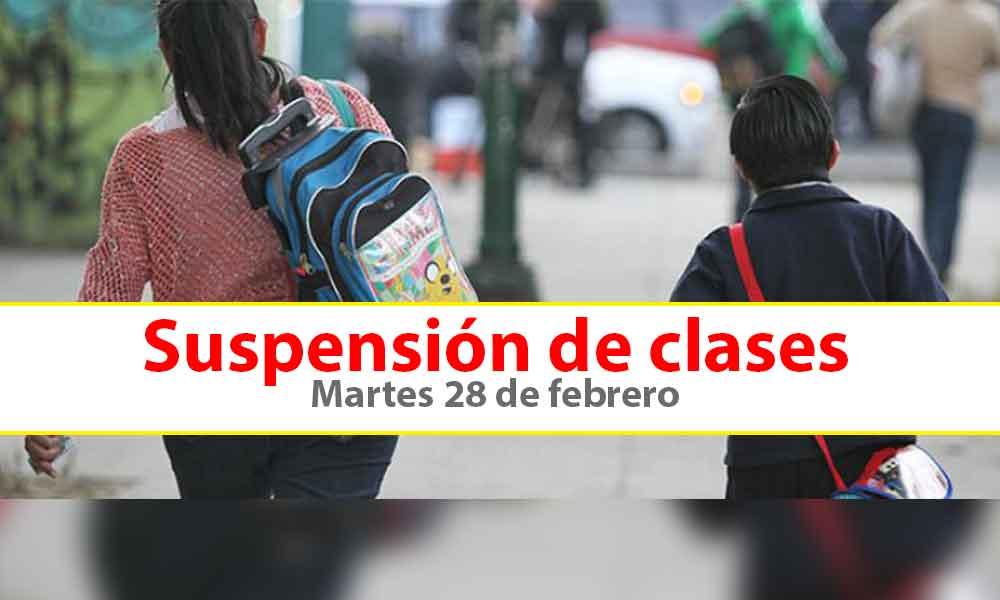 Suspenden clases en turno matutino en educación básica este martes 28 de febrero en 4 municipios