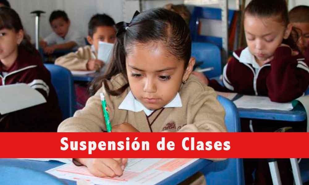 Suspensión de clases en el turno vespertino de nivel básico por alerta de lluvias