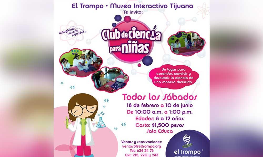 """Iniciará próximo sábado """"Ciencia para Niñas"""" en Museo El Trompo"""