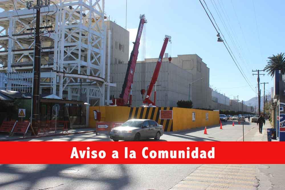 Informa Gobierno Municipal cierre de vialidades