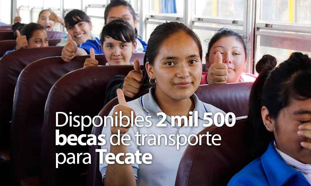 Disponibles 2 mil 500 becas de transporte para Tecate en coordinación IMJUVET y JuventudBC