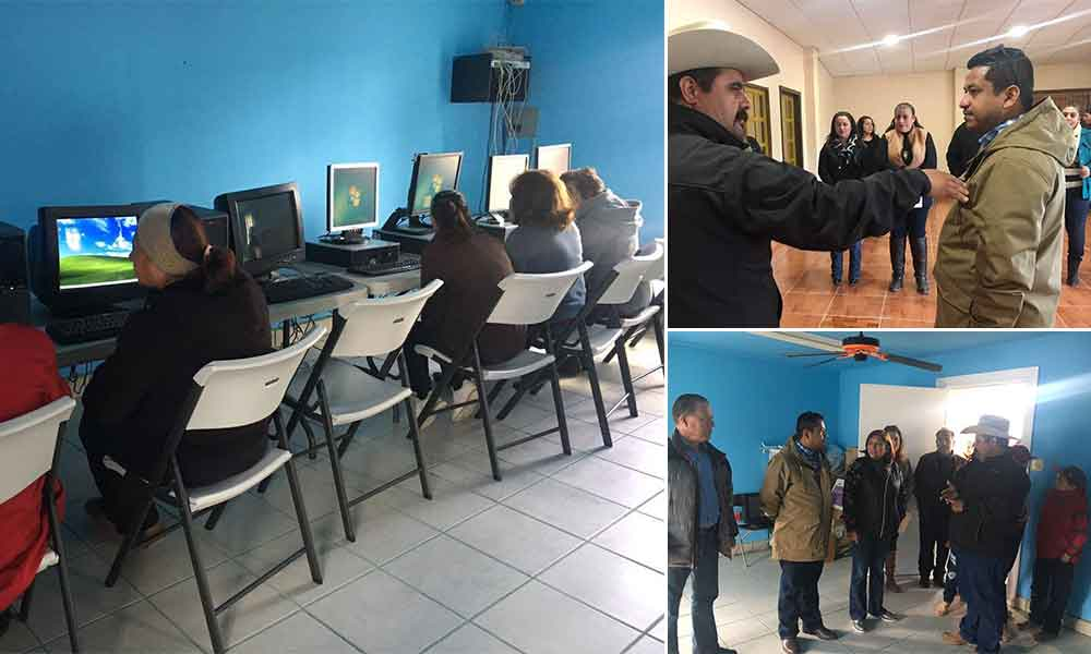 Dona Diputado computadoras para Sala de la Cultura en Valle de las Palmas, Tecate
