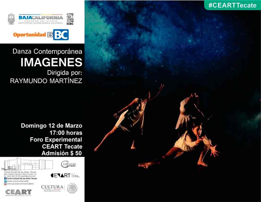 """Presentarán espectáculo de danza contemporánea """"Imágenes""""  en CEART Tecate"""