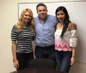 De izquierda a derecha, Abigail Lara / Manuel García Fonseca / Miriam Juarez
