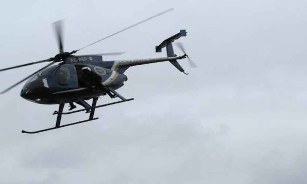 Cae helicóptero de la PEP durante rescate en El Centinela