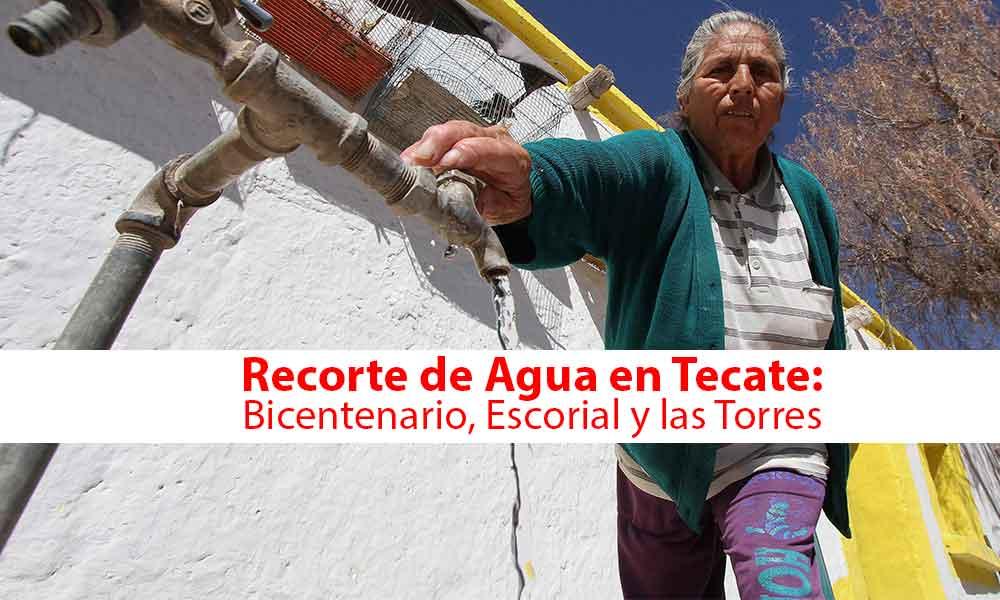Habrá recorte de agua en Tecate